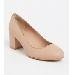 TORRID - wide width nude scallop edged shoes
